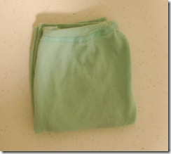 Ladies Underwear Folded Bottom to Top